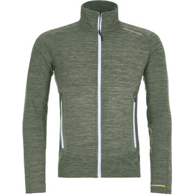 Ortovox Merino Fleece Light Melange Jacket Herre green forrest blend